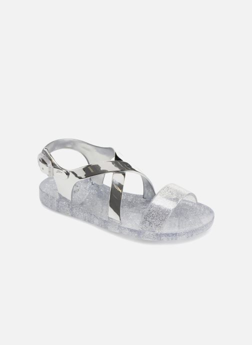 Sandales et nu-pieds Colors of California Fashion Jellies Argent vue détail/paire