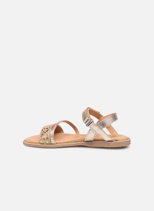 Sandales et nu-pieds Little Mary Doleron Or et bronze vue face