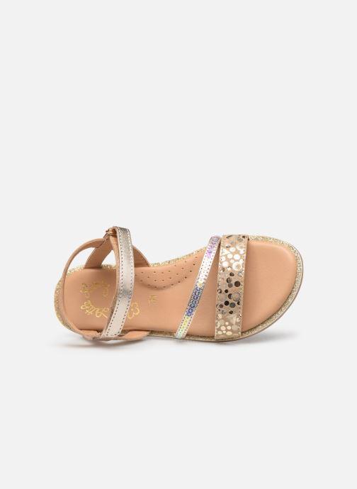 Sandales et nu-pieds Little Mary Doleron Or et bronze vue gauche