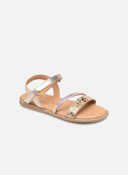 Sandales et nu-pieds Little Mary Doleron Or et bronze vue détail/paire