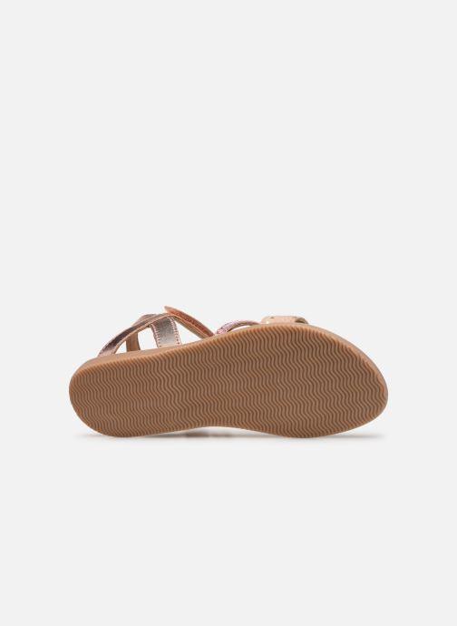 Sandales et nu-pieds Little Mary Doleron Rose vue haut