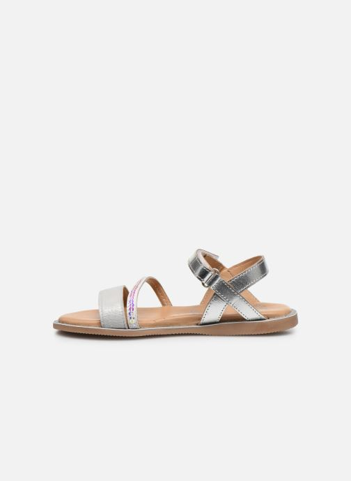 Sandalias Little Mary Doleron Plateado vista de frente