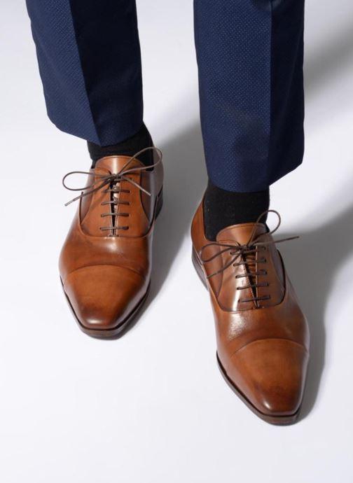 Chaussures à lacets Marvin&Co Luxe Pastagna - Cousu Blake Marron vue bas / vue portée sac