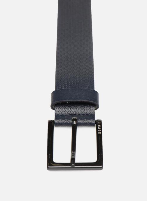 Gürtel Esprit Micro Embossed Belt blau schuhe getragen