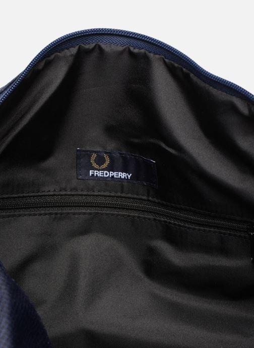 Sacs de sport Fred Perry Checked Twill Barrel bag Bleu vue derrière