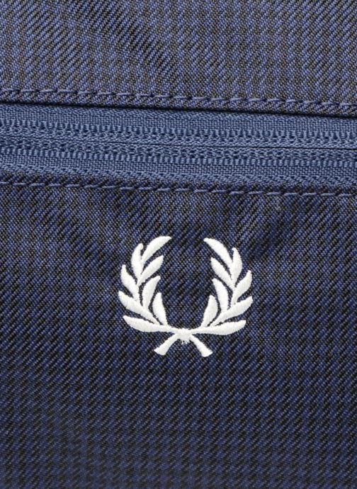 Sacs de sport Fred Perry Checked Twill Barrel bag Bleu vue gauche