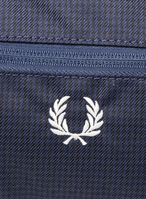 Sacs de sport Fred Perry Checked Twill Barrel bag Bleu vue gauche