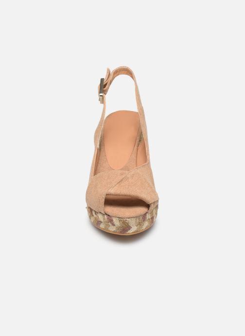 Espadrilles Castaner Brianda H8 Beige vue portées chaussures