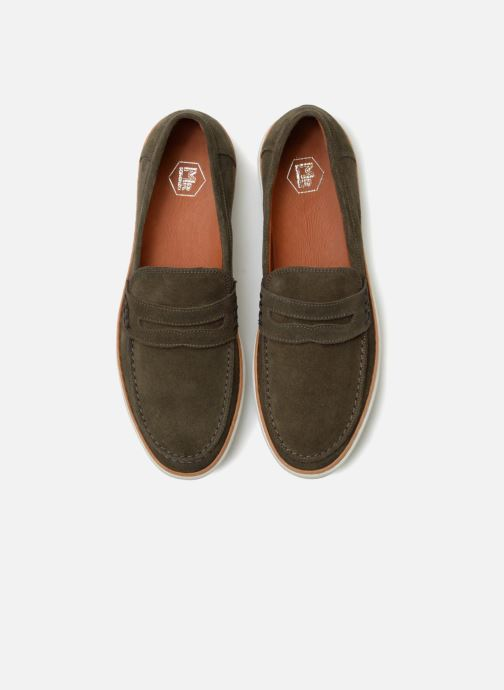 Mocassins Mr SARENZA Townstreet Vert vue portées chaussures
