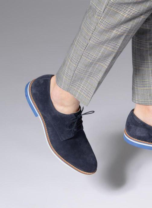 Chaussures à lacets Mr SARENZA Tallow Bleu vue bas / vue portée sac