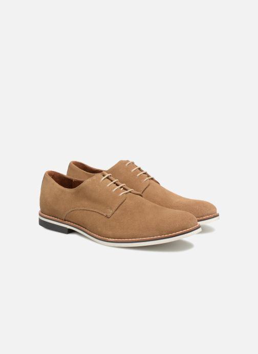 Zapatos con cordones Mr SARENZA Tallow Beige vistra trasera