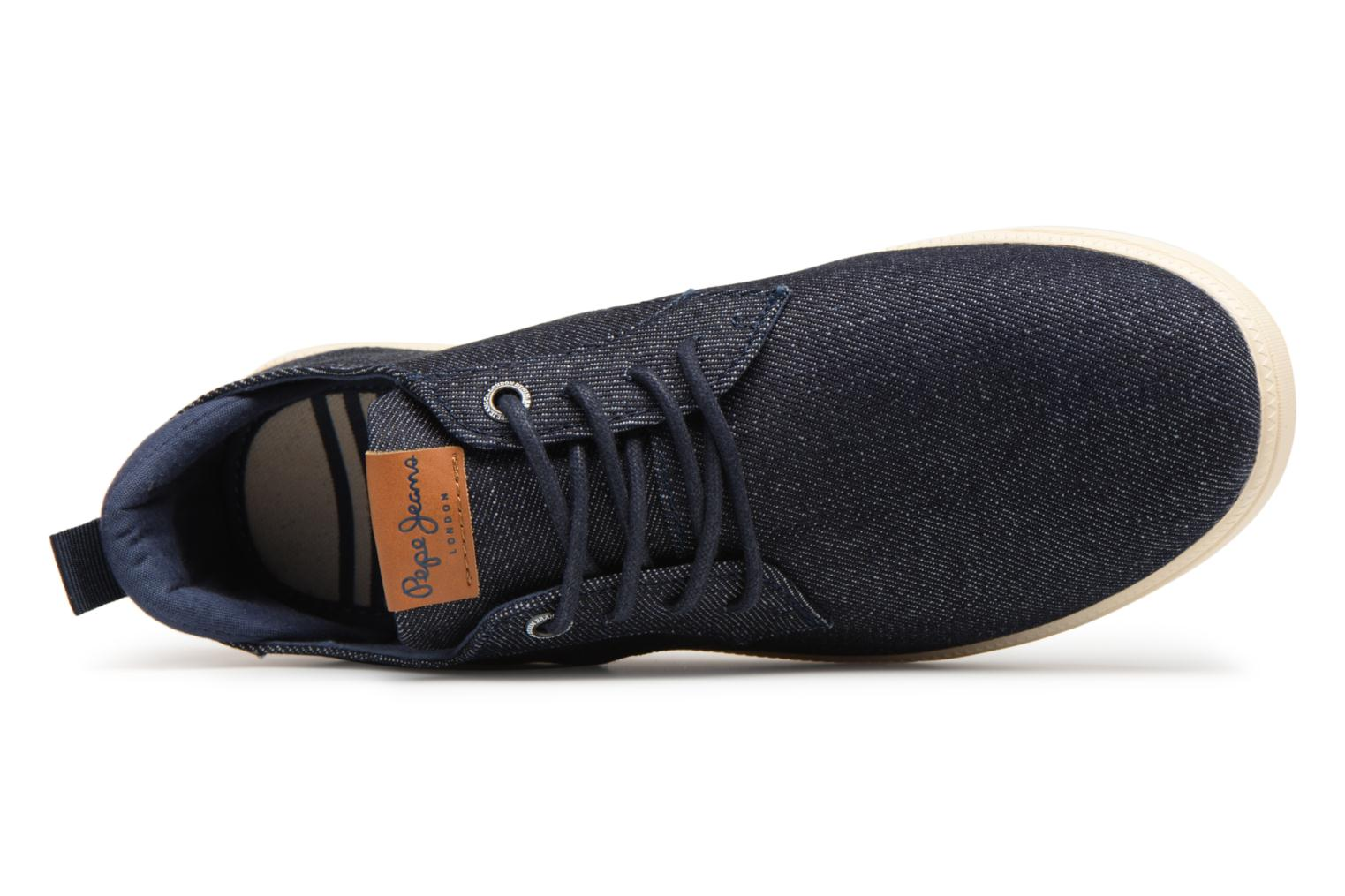 Sneakers Pepe jeans Bolton Denim Blauw links