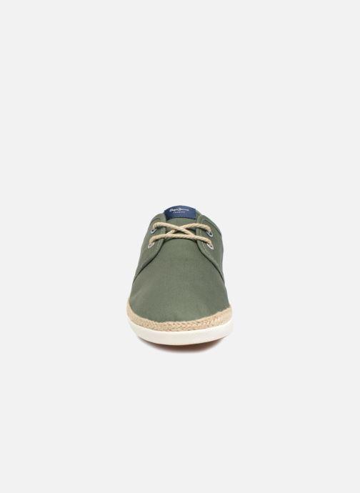 Baskets Pepe jeans Maui Laces Fabrics Vert vue portées chaussures