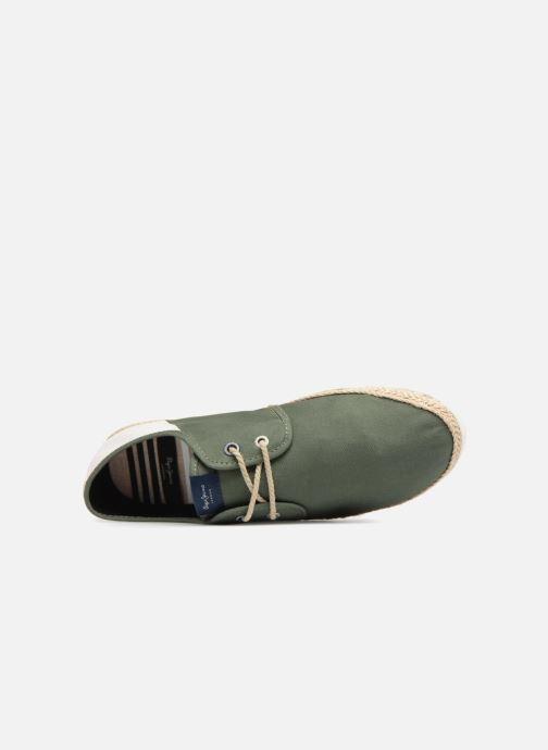Baskets Pepe jeans Maui Laces Fabrics Vert vue gauche