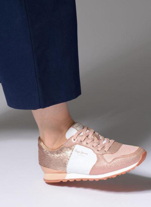 Baskets Pepe jeans Verona W Sequins Rose vue bas / vue portée sac