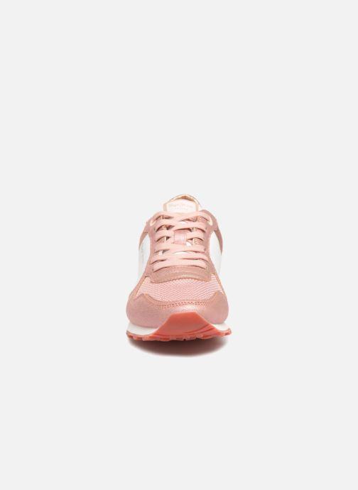 Baskets Pepe jeans Verona W Sequins Rose vue portées chaussures