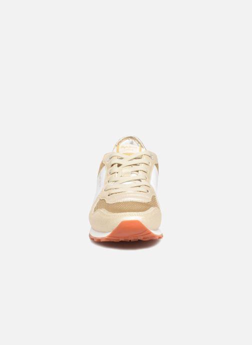 Baskets Pepe jeans Verona W Sequins Or et bronze vue portées chaussures