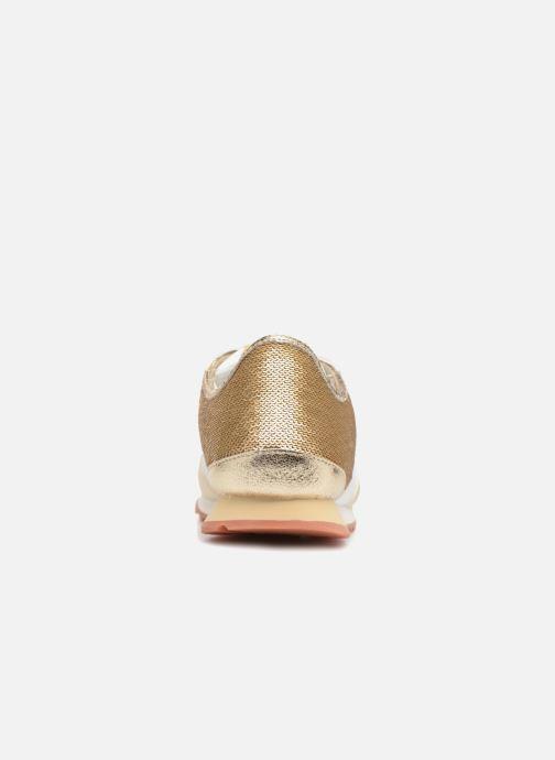 Baskets Pepe jeans Verona W Sequins Or et bronze vue droite