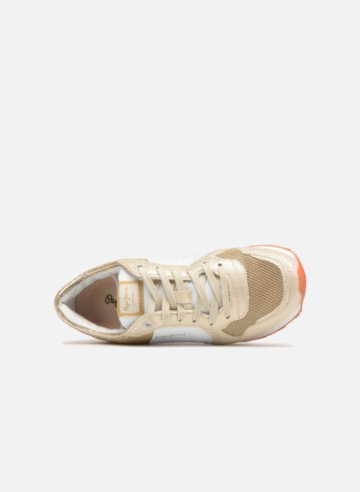 Baskets Pepe jeans Verona W Sequins Or et bronze vue gauche