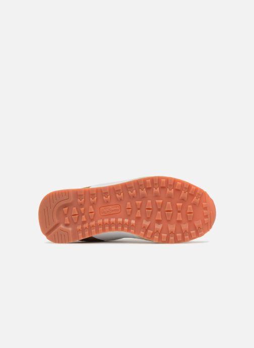 Baskets Pepe jeans Verona W Sequins Or et bronze vue haut