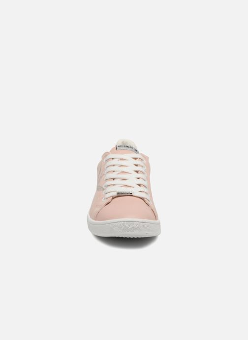 Baskets Pepe jeans Brompton Embroidery Rose vue portées chaussures
