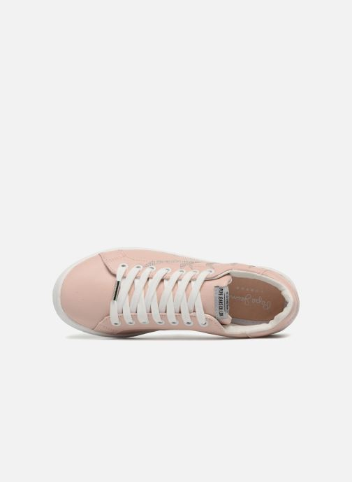 Baskets Pepe jeans Brompton Embroidery Rose vue gauche