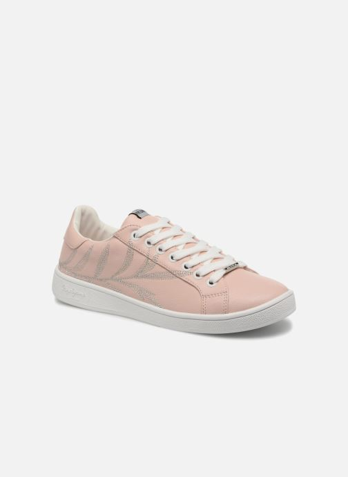 Baskets Pepe jeans Brompton Embroidery Rose vue détail/paire