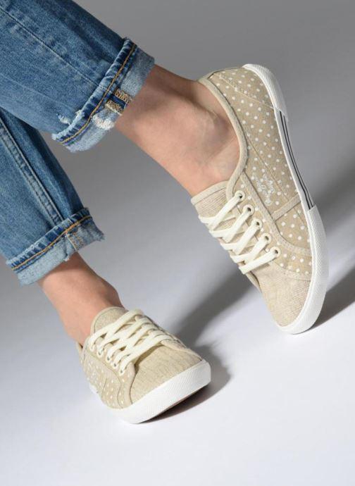 Baskets Pepe jeans Aberlady Sand Beige vue bas / vue portée sac