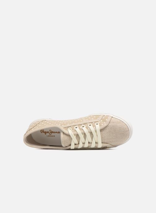 Sneakers Pepe jeans Aberlady Sand Beige immagine sinistra