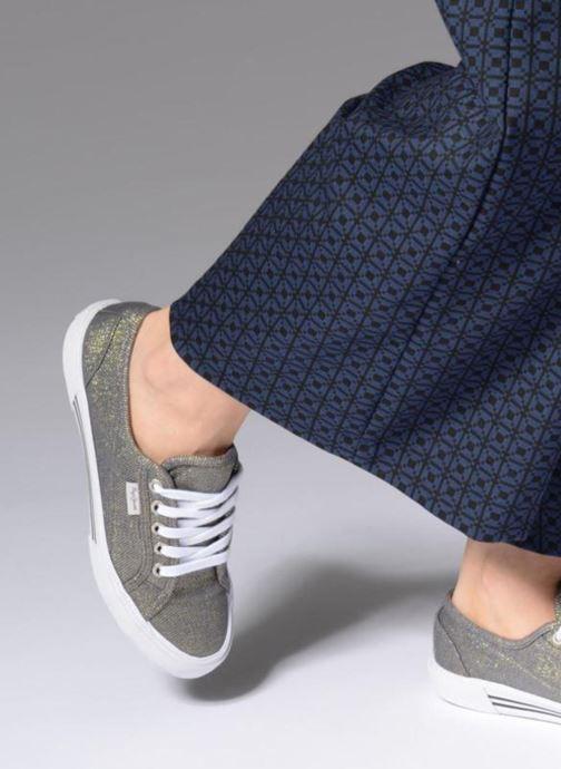 Baskets Pepe jeans Aberlady Fresh Gris vue bas / vue portée sac