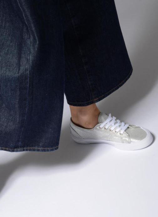 Trainers Pepe jeans Aberlady Fresh Silver view from underneath / model view