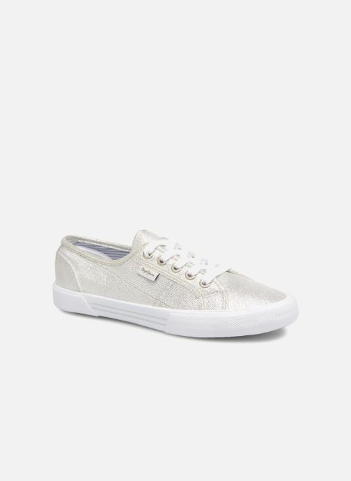 Trainers Pepe jeans Aberlady Fresh Silver detailed view/ Pair view