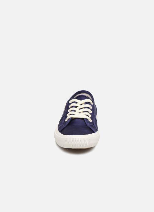 Baskets Pepe jeans Aberlady Satin Bleu vue portées chaussures