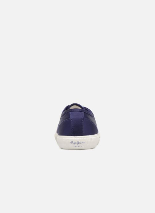 Trainers Pepe jeans Aberlady Satin Blue view from the right