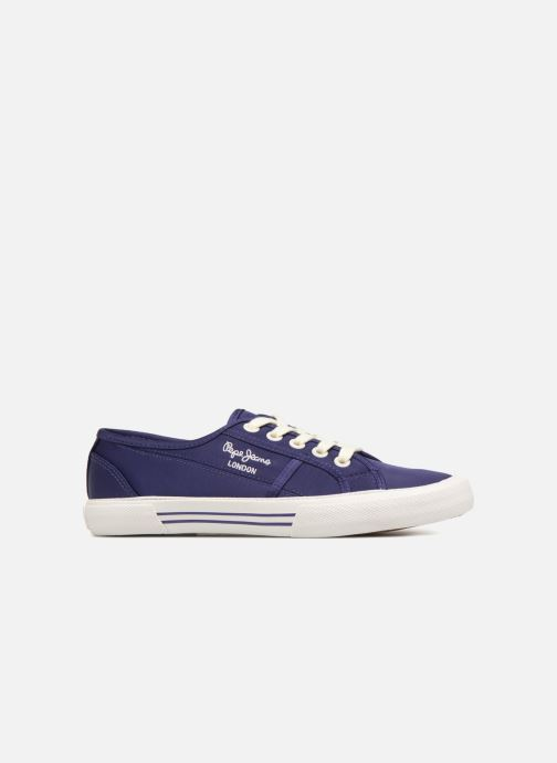 Trainers Pepe jeans Aberlady Satin Blue back view