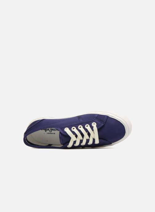 Trainers Pepe jeans Aberlady Satin Blue view from the left