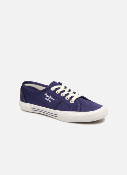 Trainers Pepe jeans Aberlady Satin Blue detailed view/ Pair view