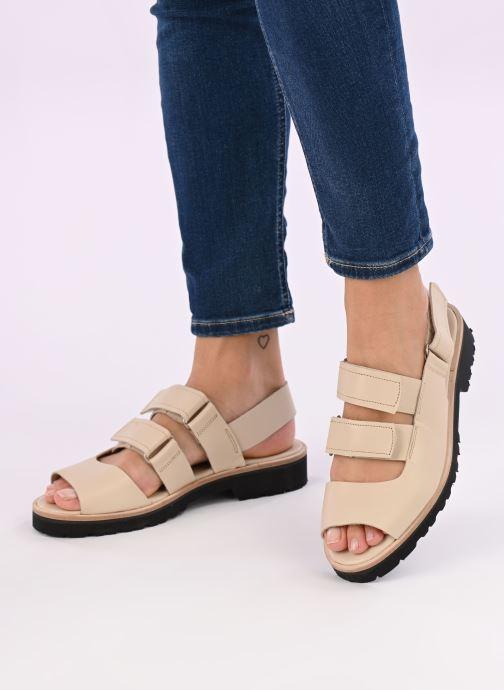 Sandali e scarpe aperte Deux Souliers Weekender Sandal #2 Beige immagine dal basso