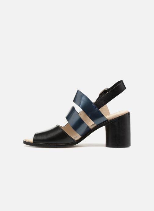 Sandalias Deux Souliers Asymmetrical Sandal #1 Negro vista de frente