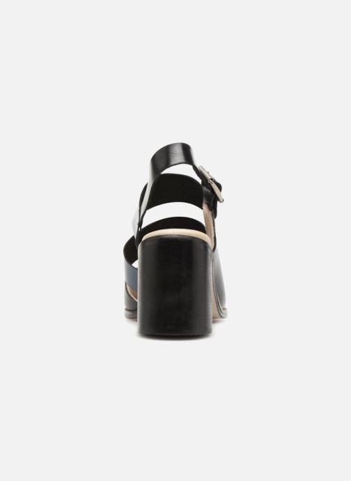Sandalias Deux Souliers Asymmetrical Sandal #1 Negro vista lateral derecha