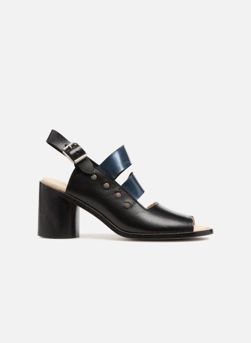 Sandalias Deux Souliers Asymmetrical Sandal #1 Negro vistra trasera