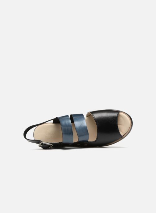 Sandalias Deux Souliers Asymmetrical Sandal #1 Negro vista lateral izquierda