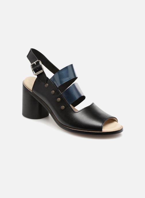 Sandalen Deux Souliers Asymmetrical Sandal #1 schwarz detaillierte ansicht/modell
