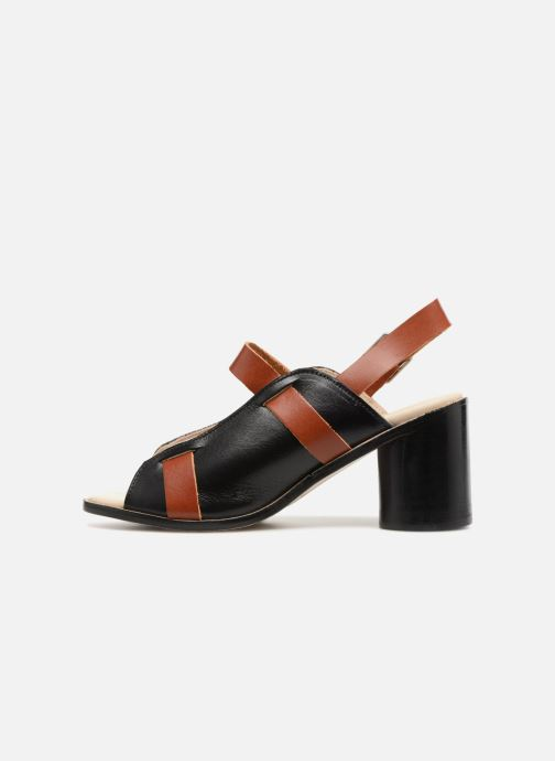 Sandali e scarpe aperte Deux Souliers Buckle Strap Sandal #1 Nero immagine frontale