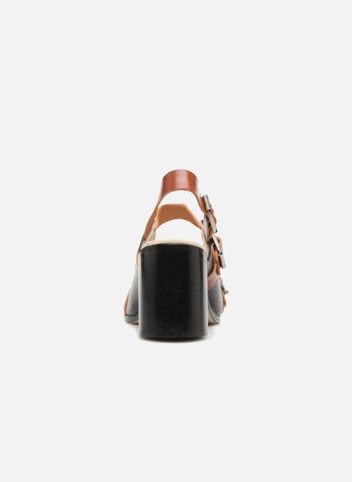 Sandali e scarpe aperte Deux Souliers Buckle Strap Sandal #1 Nero immagine destra