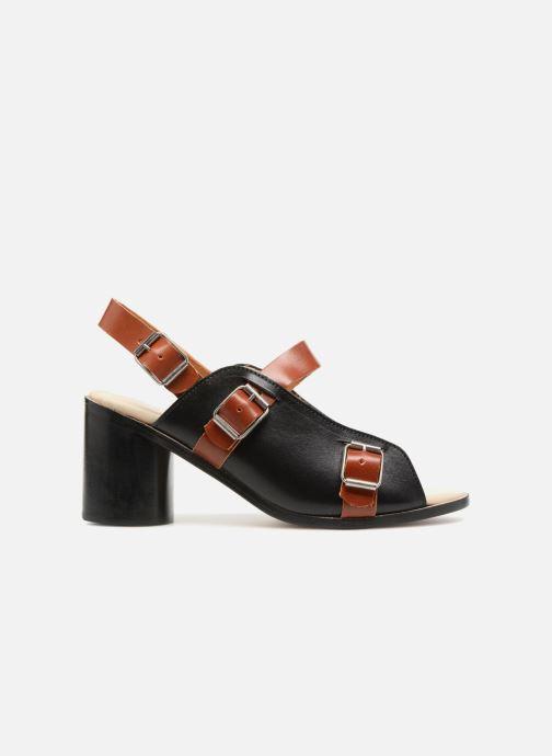 Sandales et nu-pieds Deux Souliers Buckle Strap Sandal #1 Noir vue derrière