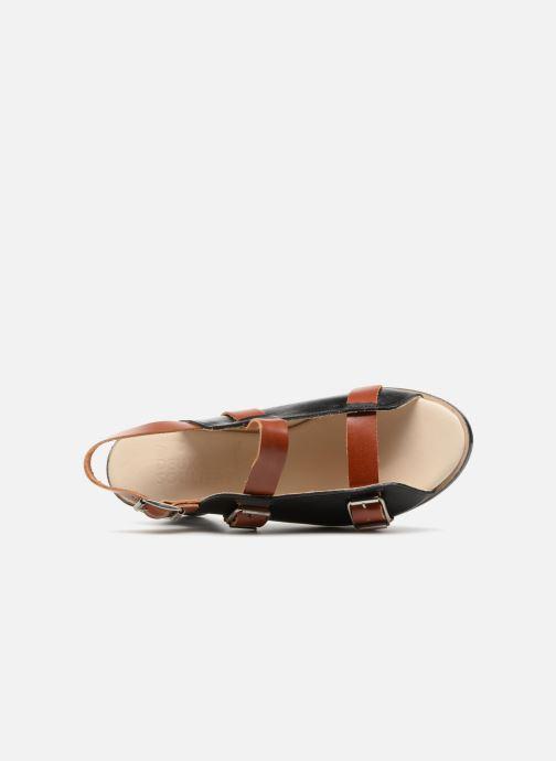 Sandali e scarpe aperte Deux Souliers Buckle Strap Sandal #1 Nero immagine sinistra