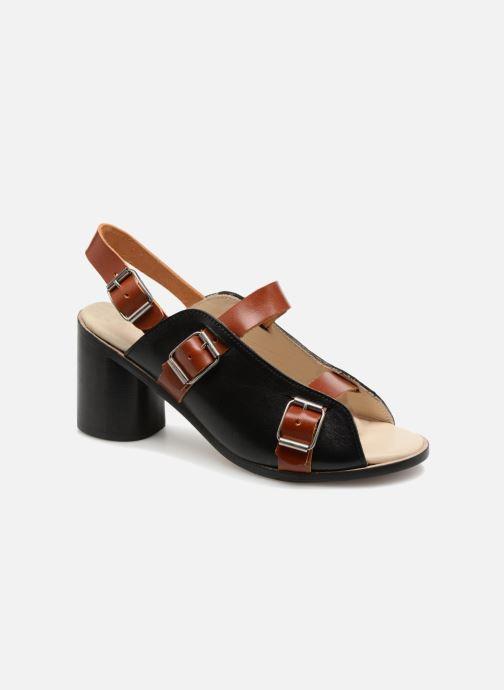 Sandales et nu-pieds Deux Souliers Buckle Strap Sandal #1 Noir vue détail/paire