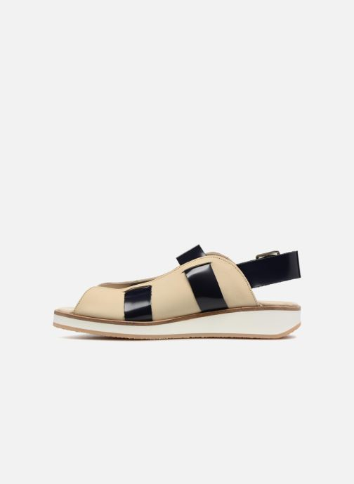 Sandali e scarpe aperte Deux Souliers Buckle Strap Sandal #1 Beige immagine frontale
