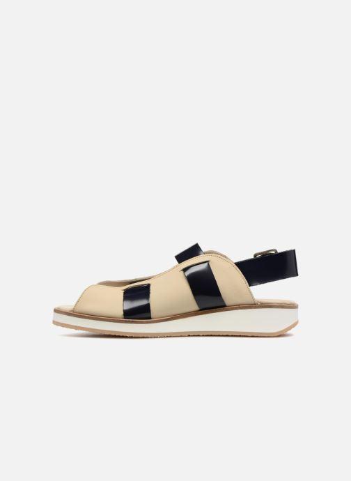 Sandales et nu-pieds Deux Souliers Buckle Strap Sandal #1 Beige vue face